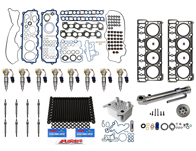 Alliant Power Set of 8 Fuel Injector Lines /& O-Ring Seal Kit Compatible with 2008-2010 Ford 6.4 Powerstroke Diesel